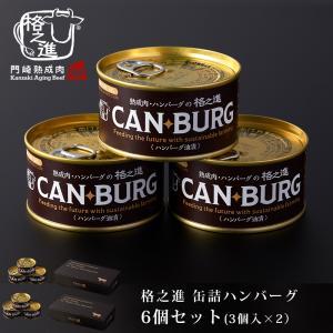 非常食 缶詰 保存食 防災 肉 缶詰め 格之進 ハンバーグ 6缶 セット ギフト 国産牛 白金豚 無添加|kakunoshin