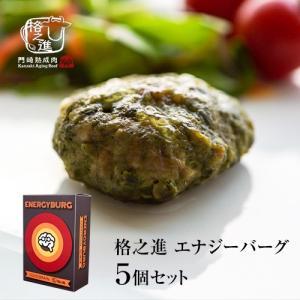 格之進 エナジーバーグ 5個セット ハンバーグ ギフト 冷凍 送料無料 国産牛 白金豚 無添加|kakunoshin