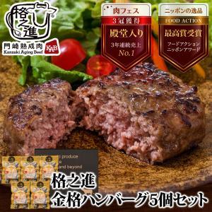 ハンバーグ取り寄せ 冷凍 ギフト ハンバーグステーキ 格之進 金格ハンバーグ 5個セット