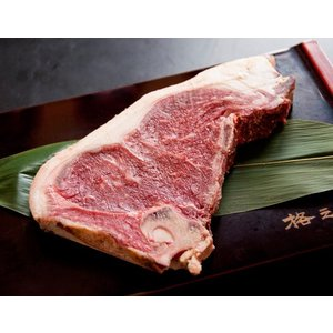 ステーキ肉 熟成肉 国産 牛 ギフト 送料無料 格之進 門崎 ステーキ 骨付き肉 Lボーン (国産牛:350g〜450g×1枚)|kakunoshin