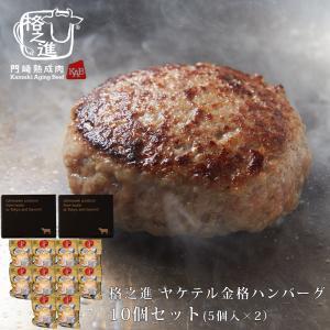 ハンバーグ 温めるだけ 冷凍 送料無料 格之進 ヤケテル金格ハンバーグ (約120g×10個セット) 国産牛 白金豚|kakunoshin