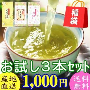 令和元年産 お茶 緑茶 煎茶 お試しセット やぶきた茶 愛用茶 翠風 100gx3袋 送料無料 1000円ポッキリ セール