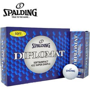 激安数量限定待望のゴルフボールスポルディングディプロマットソフトゴルフボール1ダース12個入り|kakuyasugolf