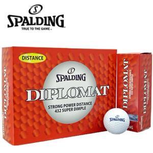 激安数量限定待望のゴルフボールスポルディングディプロマットディスタンスゴルフボール1ダース12個入り|kakuyasugolf