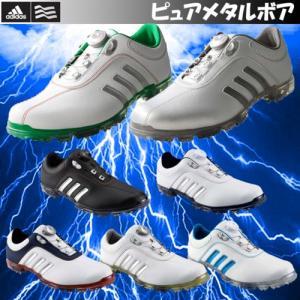 2016年モデル 日本正規品 アディダス ピュアメタル ボア ソフトスパイク ゴルフシューズ Adidas pure metal Boa |kakuyasugolf