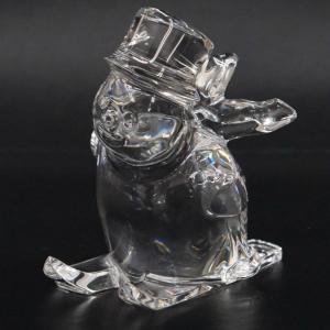 Baccarat バカラ スノーマン スキー クリスタルガラス 置物|kaleid
