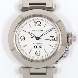Cartier カルティエ パシャC ビッグデイト W31044M7 自動巻 SS 男女兼用 中古美品|kaleid