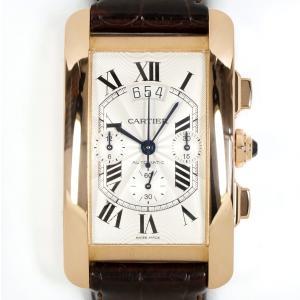 Cartier カルティエ タンクアメリカン クロノグラフ XL 自動巻 W2609356 750PG(K18PG)