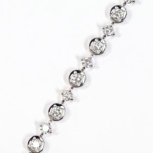 LINE DTC ダイヤモンド ラインブレスレット K18WG ホワイト ダイヤモンド 2.60ct 正規品|kaleid