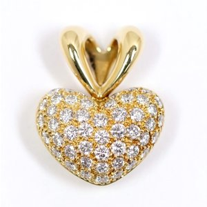 jeunet ジュネ ダイヤモンド 0.96ct K18YG ハートパヴェ ペンダント トップ|kaleid