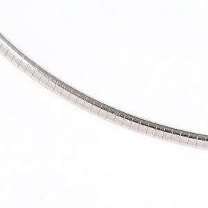 MIKIMOTO ミキモト K18ホワイトゴールド オメガネックレス 11.3g 2.5ミリ幅 40センチ|kaleid