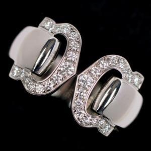 Cartier カルティエ 2C ブークルセ ダイヤ リング 750WG(K18ホワイト) #49 (約9号)|kaleid