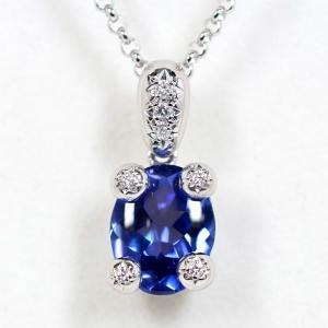 TASAKI タサキ 田崎真珠 タンザナイト 2.60ct ダイヤモンド 0.05ct Pt900/850 ネックレス|kaleid