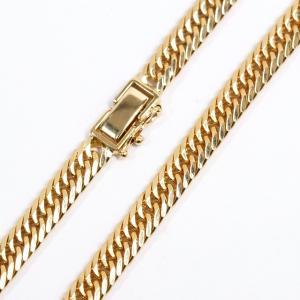 喜平(キヘイ) ネックレス K18YG 750YG 8面トリプル 50.2g 60センチ 中古美品 kaleid