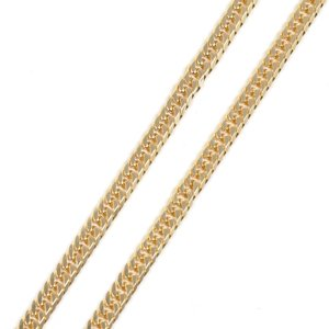 喜平(キヘイ) ネックレス K18YG 750YG 6面ダブル 10.2g 50センチ 中古美品 kaleid