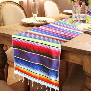 メキシカンサラペ テーブルランナー(マルチカラー) 西海岸インテリア