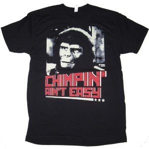 PLANET OF THE APES / 猿の惑星 - CHIMPIN'/BLACK Tシャツ(Sサイズ)|kaltz