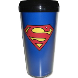 SUPERMAN / スーパーマン - Superman 16oz Plastic Travel Mug タンブラー|kaltz