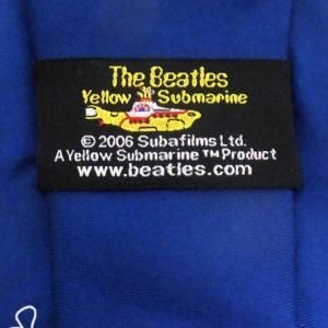 THE BEATLES / ビートルズ - Yellow Submarine Outline Silk / Blue ネクタイ|kaltz|03