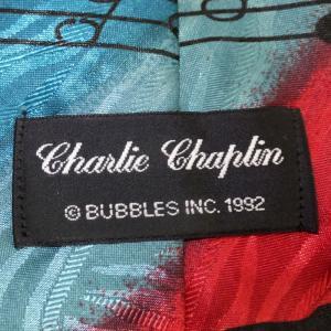 Charlie Chaplin / チャールズ・チャップリン - Vintage Charlie Chaplin Comedy Great / マルチカラー 90年代UK製 古着 ヴィンテージ・ネクタイ|kaltz|05