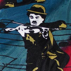 Charlie Chaplin / チャールズ・チャップリン - Vintage Charlie Chaplin Comedy Great / マルチカラー 90年代UK製 古着 ヴィンテージ・ネクタイ|kaltz|06