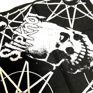 Slipknot / スリップノット - SKULL AND STARS BLACK BANDANA バンダナ|kaltz|02