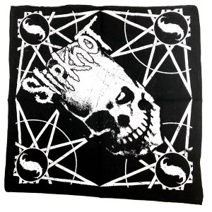 Slipknot / スリップノット - SKULL AND STARS BLACK BANDANA バンダナ|kaltz|03