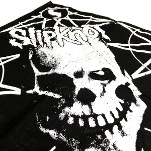 Slipknot / スリップノット - SKULL AND STARS BLACK BANDANA バンダナ|kaltz|04