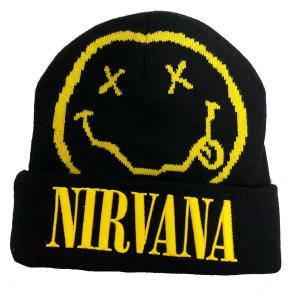 NIRVANA / ニルヴァーナ - Smile ビーニー(帽子・ニット帽) / ブラック|kaltz