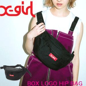 X-girl エックスガール ヒップバッグ BOX LOGO...