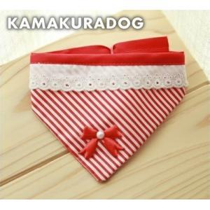 赤リボンバンダナ kamakuradog