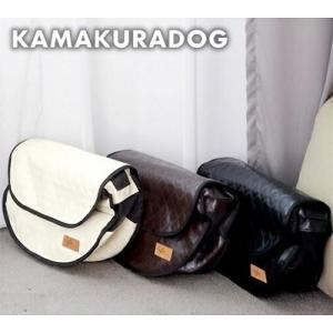 【ペットスリング】【ドッグスリング】【ペットキャリー】レザー風スリングバッグ|kamakuradog