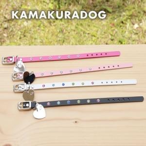 【犬 首輪】【小型犬 首輪】ラブリー首輪(本革製)|kamakuradog