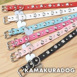 【犬 首輪】【小型犬 首輪】スタッズフラワー首輪|kamakuradog