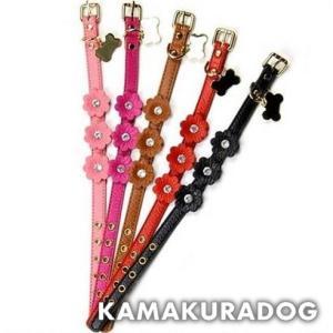 【犬 首輪】フラワーモチーフ首輪|kamakuradog