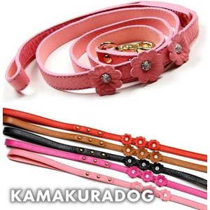 【鎌倉DOG】フラワーリード/2頭引きリード|kamakuradog