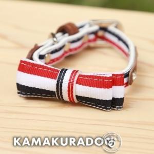 【犬 リード】トリコロール首輪・リード|kamakuradog