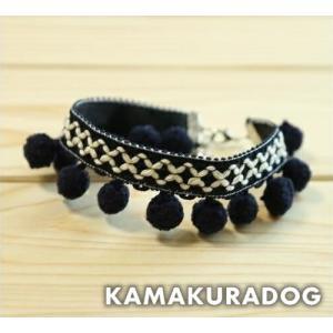 【犬の首輪】【犬 首輪】【猫の首輪】ポンポンネックレス kamakuradog