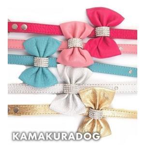 【犬 首輪】リボン付きリード(本革製)|kamakuradog