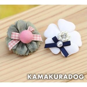 おめかしフラワーバレッタ(バレッタ・1個) kamakuradog
