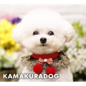 【鎌倉DOG】【犬猫 スカーフ】ゴールドレーススカーフ|kamakuradog