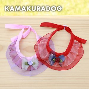 【犬の服】レーシーローズスカーフ|kamakuradog