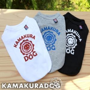 【犬の服】カレッジロゴタンク kamakuradog