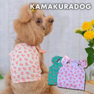 【犬の服】ピンキーフラワーキャミ|kamakuradog