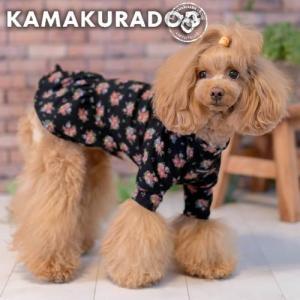 【犬の服】クラシックな花柄ワンピース kamakuradog