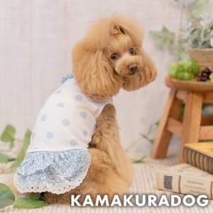 【犬の服】小花ブルーワンピース|kamakuradog
