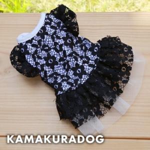 【犬の服】ブラックレースワンピース|kamakuradog