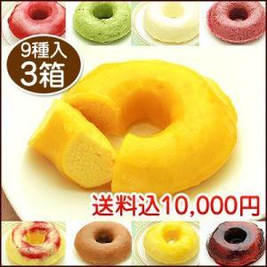 9種類の生ドーナツ(苺、レアチーズ、マンゴー、抹茶、オレンジ、白桃、ブルーベリー、カシ ス、アーモンド風味プラリネ)×3箱|kamasho