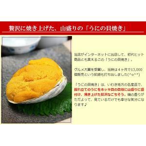 ウニの貝焼き うにの貝焼き うに ウニ むらさきうに ムラサキウニ 貝焼き 貝焼 貝殻を含まず約50g 海外産 福島県 いわき 郷土料理|kamasho|05