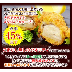 超特大牡蠣フライ カキフライ 冷凍 広島牡蠣フライ 広島県産 ジューシー牡蠣フライ 広島牡蠣 冷凍牡蠣フライ 冷凍食品 海鮮フライ 10個|kamasho|05